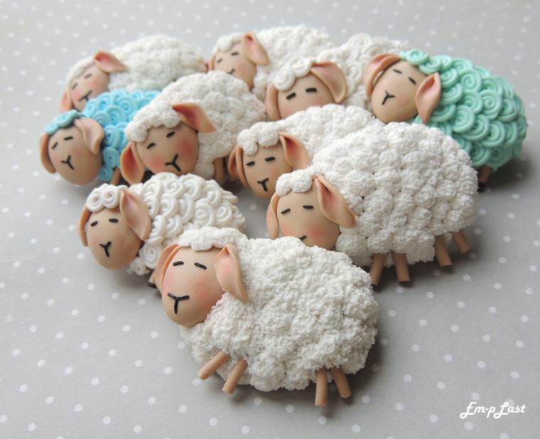 овечка, серьги, новая коллекция