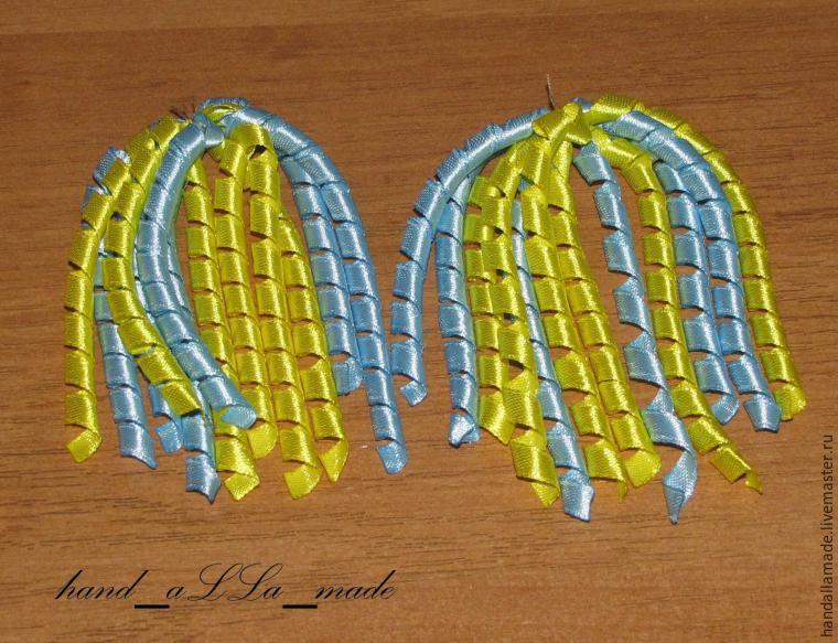 Как просто сделать спиральки-завитушки из лент - Ярмарка Мастеров - ручная работа, handmade