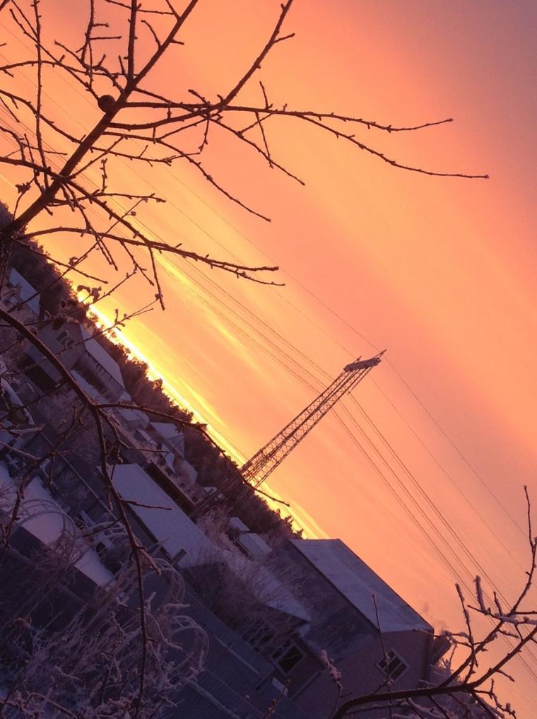 зимнее утро, утро