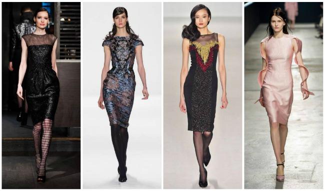 платья из черного плотного материала для полных