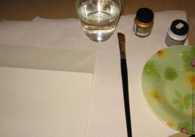 покраска канвы