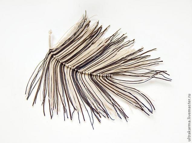 Как сделать перо своими руками из ниток