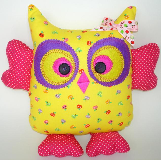 Подушка-игрушка Веселая Сова - новинка нашей студии! - Ярмарка Мастеров - ручная работа, handmade