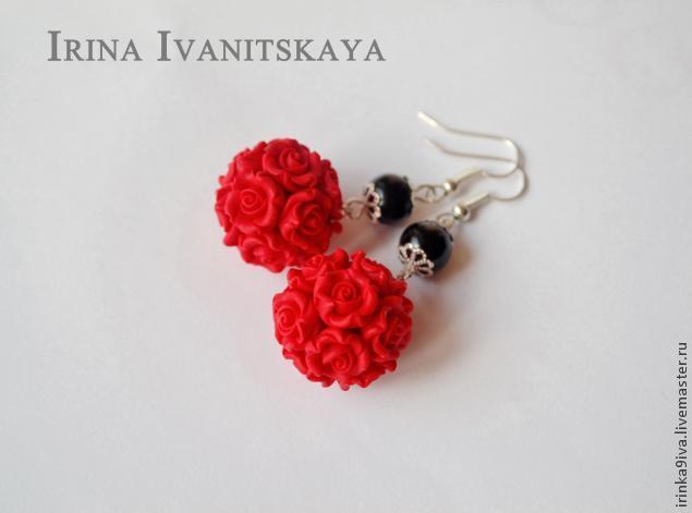 полимерная глина, цветочные украшения, цветы ручной работы, мастер-класс