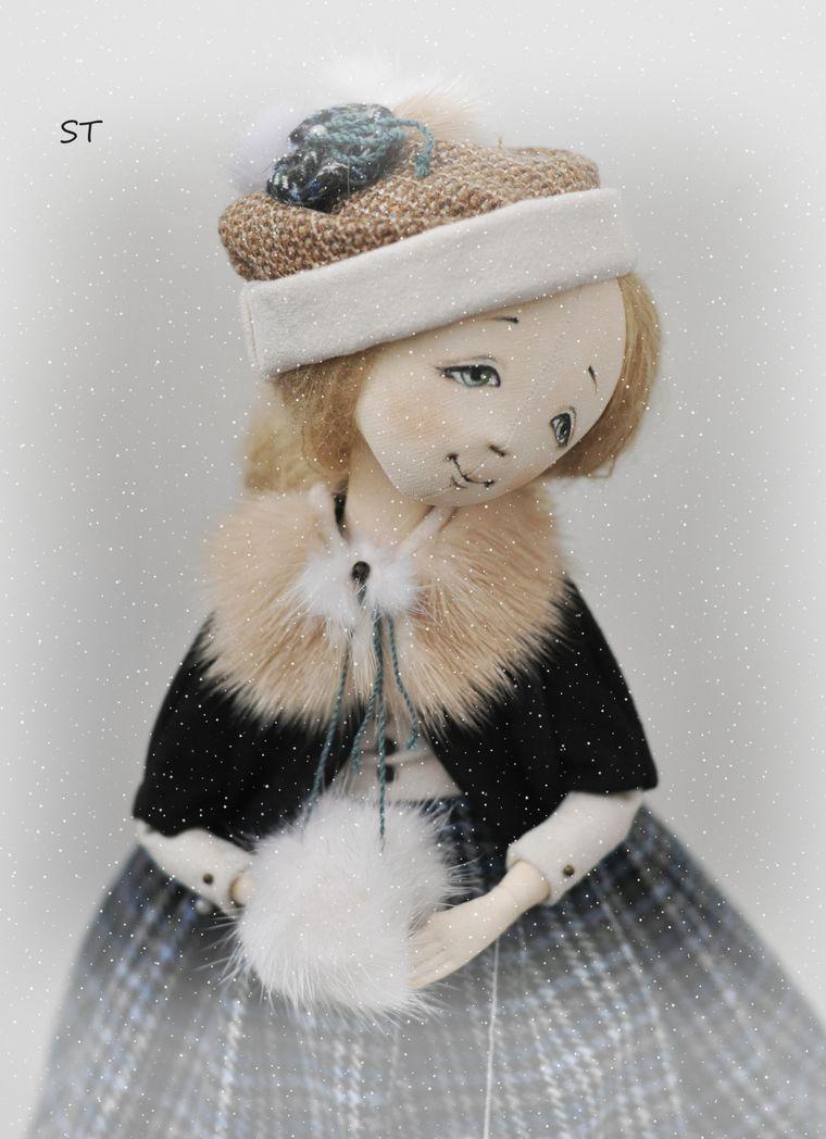 мк по кукле, текстильная кукла, роспись лица кукле