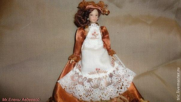 Одежда для кукол .Фартучек., фото № 33