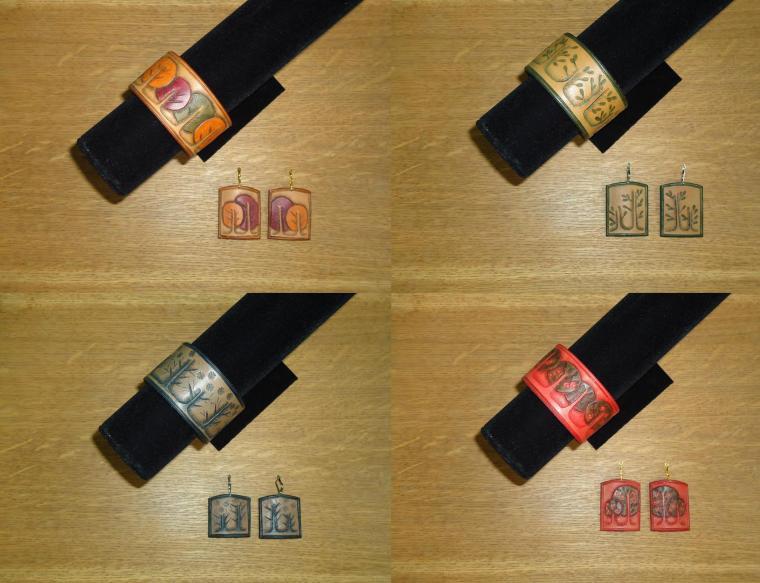натуральная кожа, браслет, серьги, авторские украшения, авторская ручная работа, подарок