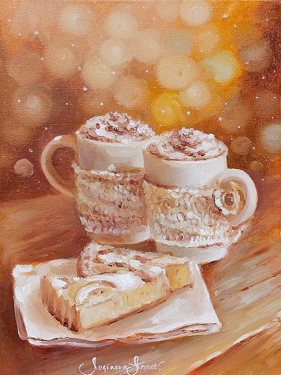 уют, зима, зимняя картина, кофе