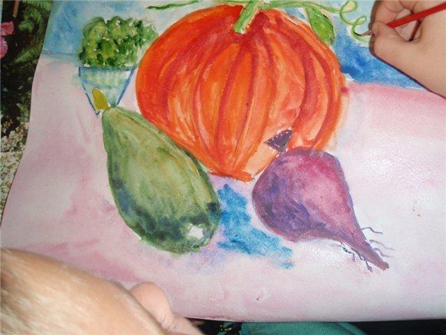 Рисуем с детьми «Осенний натюрморт», фото № 5