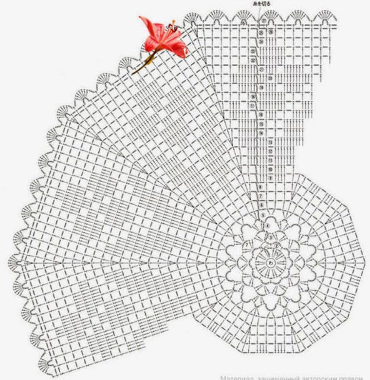 Вязание салфетка филейка 62