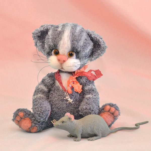мишки, кот, игрушка