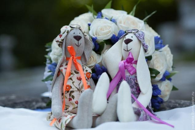 зайчик, тильда зайка, свадебные аксессуары