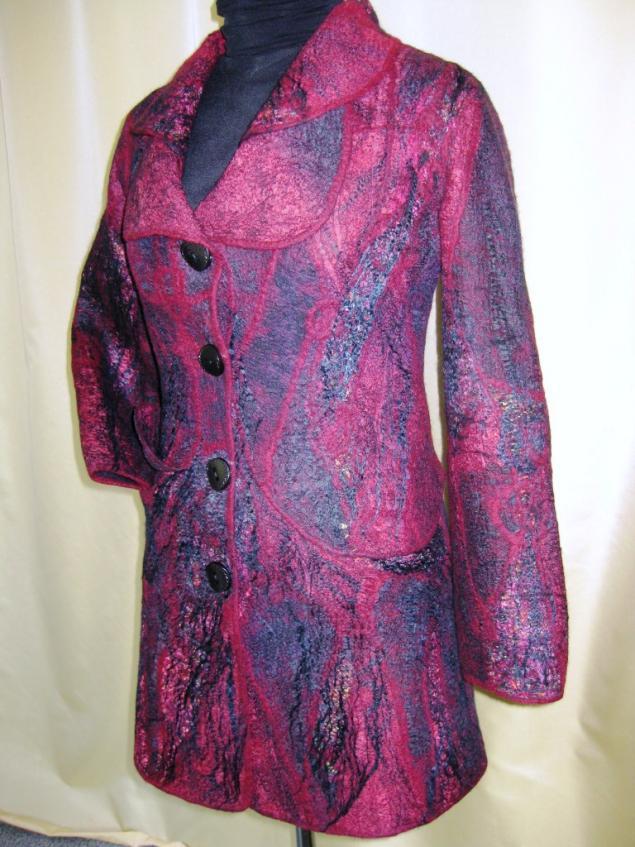 пальто валяное, войлок, одежда