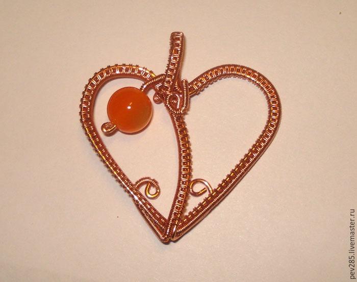 Делаем подвеску-сердечко из проволоки в технике Wire Wrap - Ярмарка Мастеров - ручная работа, handmade