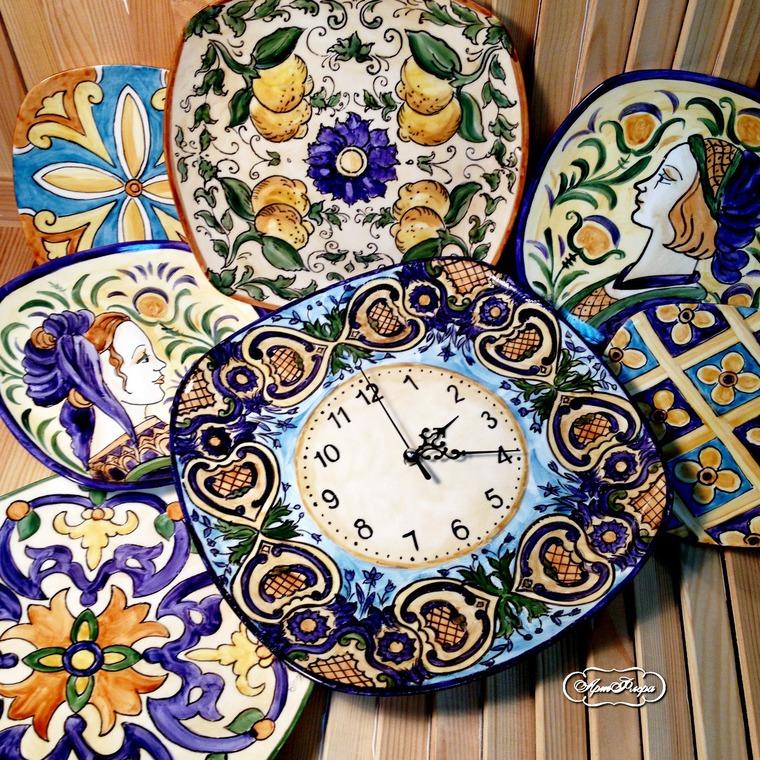 Декорирование стен тарелками, фото № 43