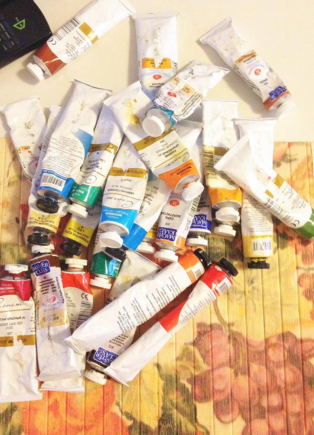 масляные краски, отдам, даром, краски