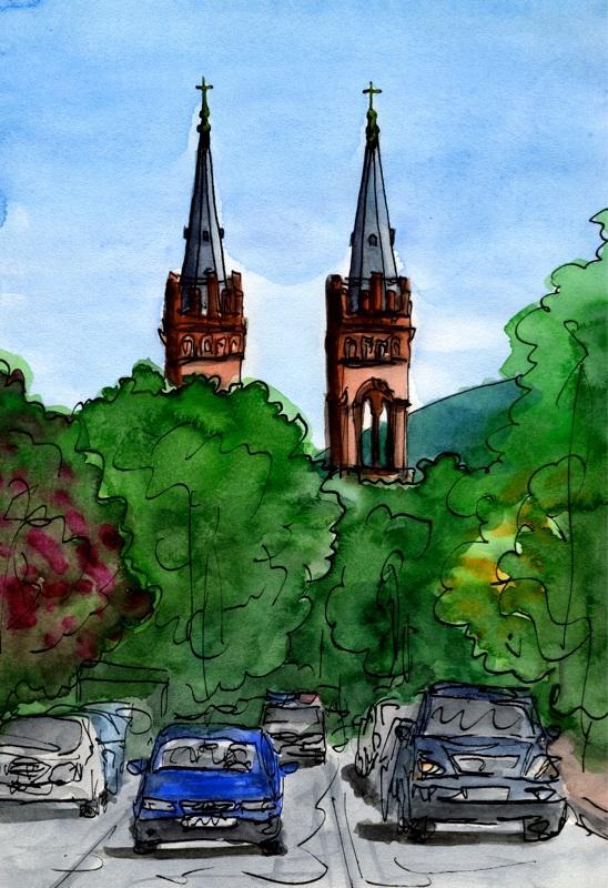 Путешествуем с Михаилом Щербаковым (Vokabre): быстрые зарисовки акварелью, фото № 10