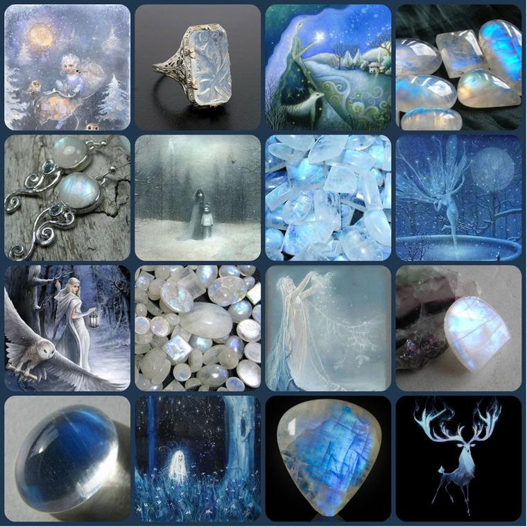 адуляр, лунный камень, полудрагоценные камни, коллаж, интересное, ортоклаз