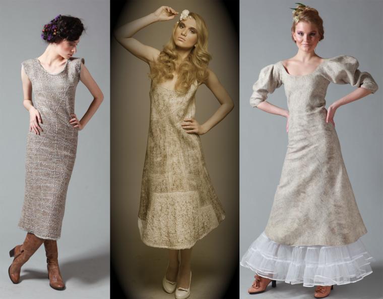платья из войлока