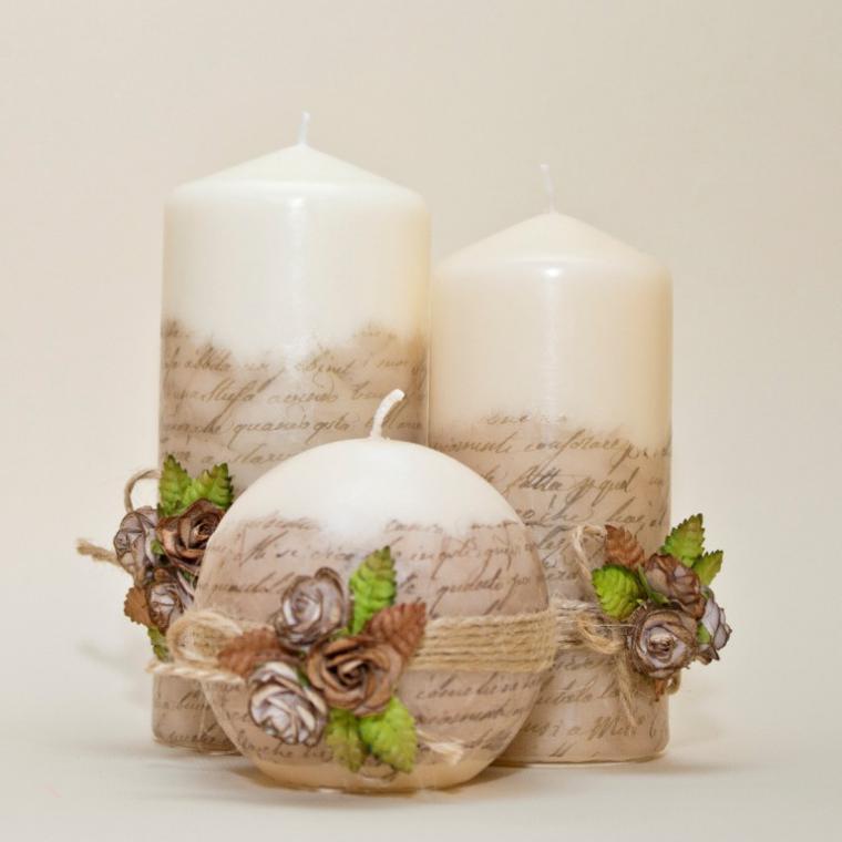 Декорируем свечи своими руками