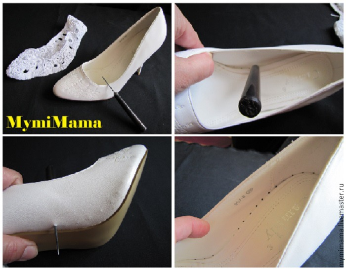вязанные туфли, свадьба 2016