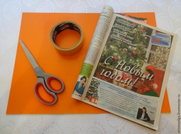 Новогодняя елочка из бумажных салфеток своими руками, фото № 2