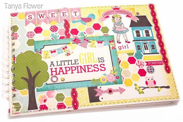 фотоальбом ручной работы, подарок для девочки, фотоальбом для малыша, таня фловер, подарок детям, что подарить родителям, sweet girl