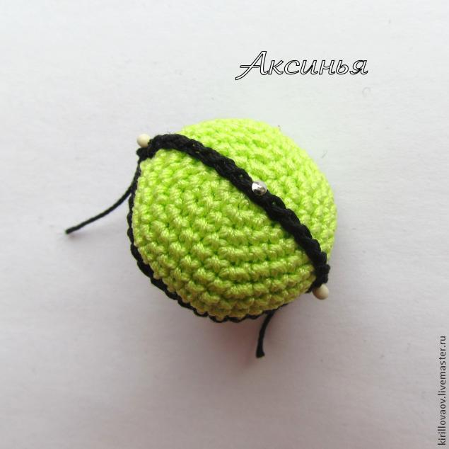 """钩针教程:钥匙链""""瓢虫""""(大师班) - maomao - 我随心动"""