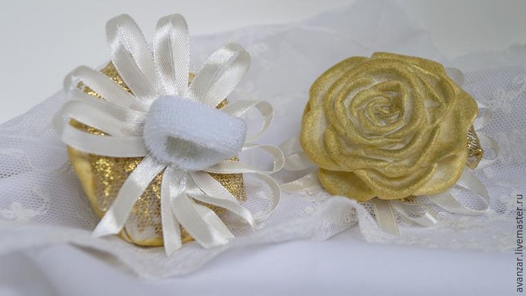 Создаем заколки с кружевом и золотыми розами из фоамирана, фото № 22