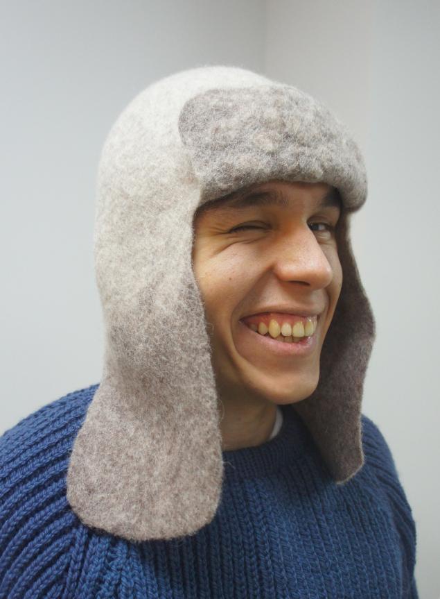 шапка с ушами, мастер-класс по валянию