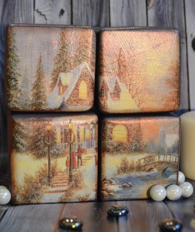 Набор интерьерных кубиков - прекрасный новогодний подарок! Новинка нашей студии!, фото № 2
