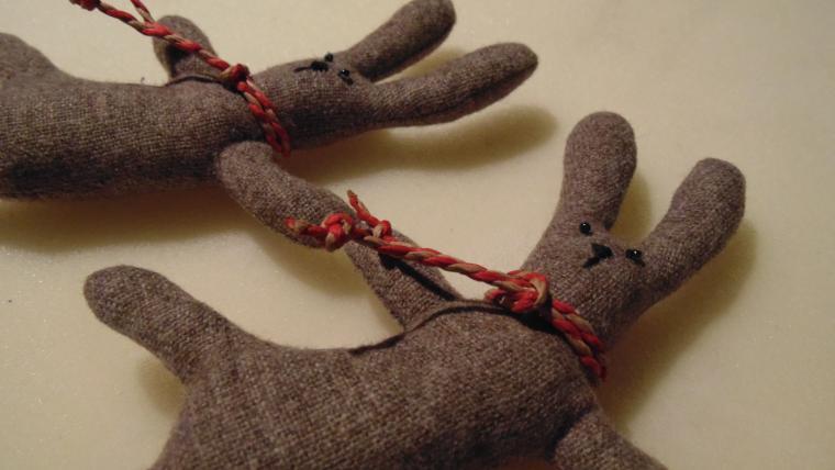 гирлянда, гирлянда из зайцев, новогоднее украшение