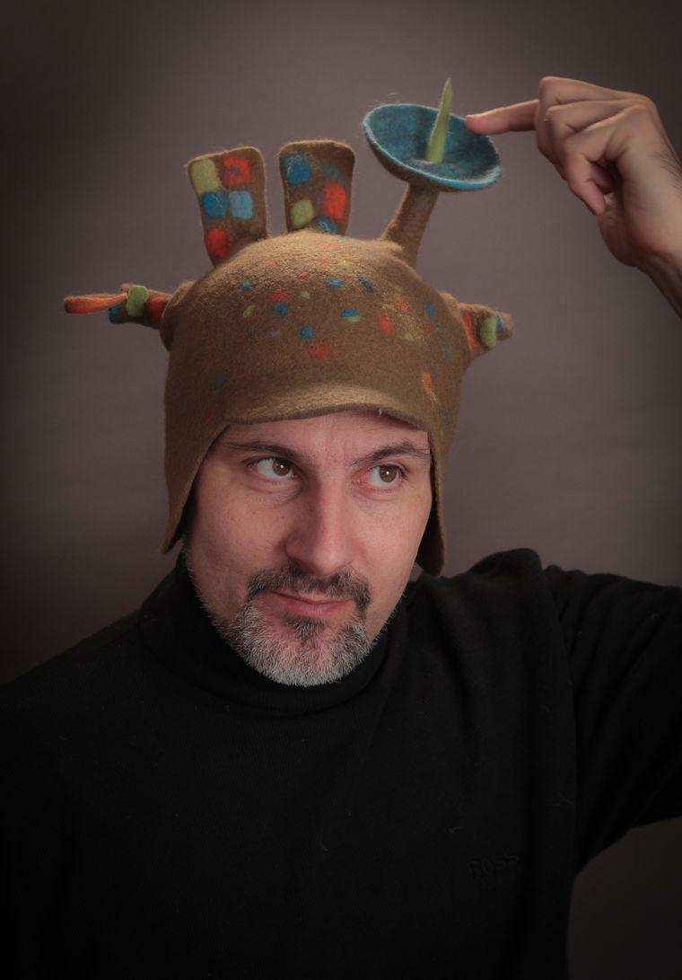 Головные уборы из шерсти: шапочки, шляпки, кепки, береты, фото № 26