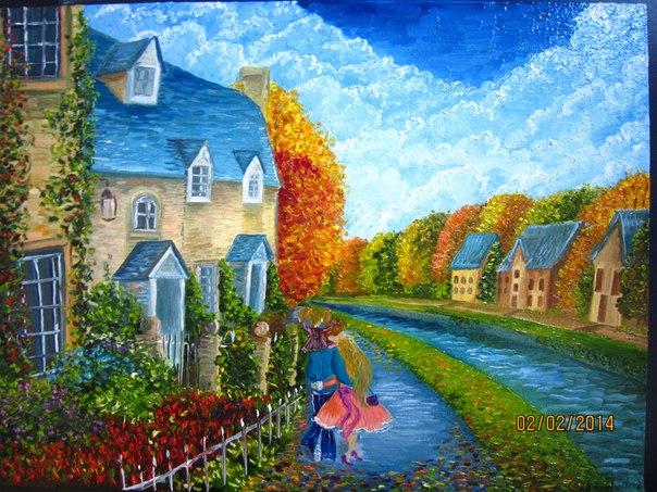 бартер, картина, картина в подарок, картина для интерьера, картина в детскую, живопись маслом, живопись, картины
