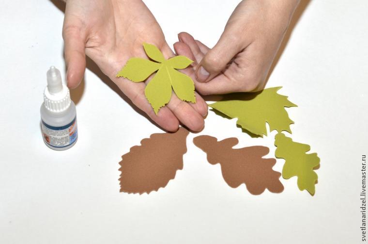 Осенние листья из фоамирана мастер класс с пошаговым