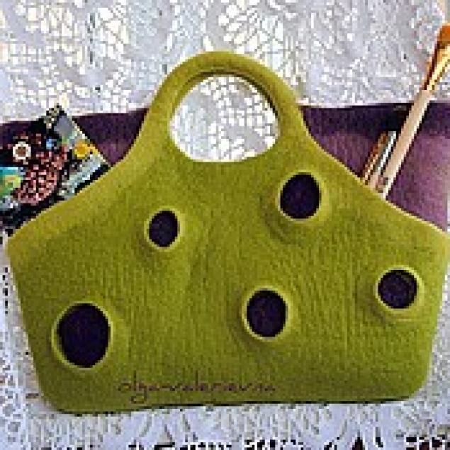 мастер-класс по валянию, войлочная сумка