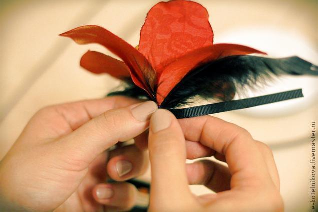 текстильный цветок