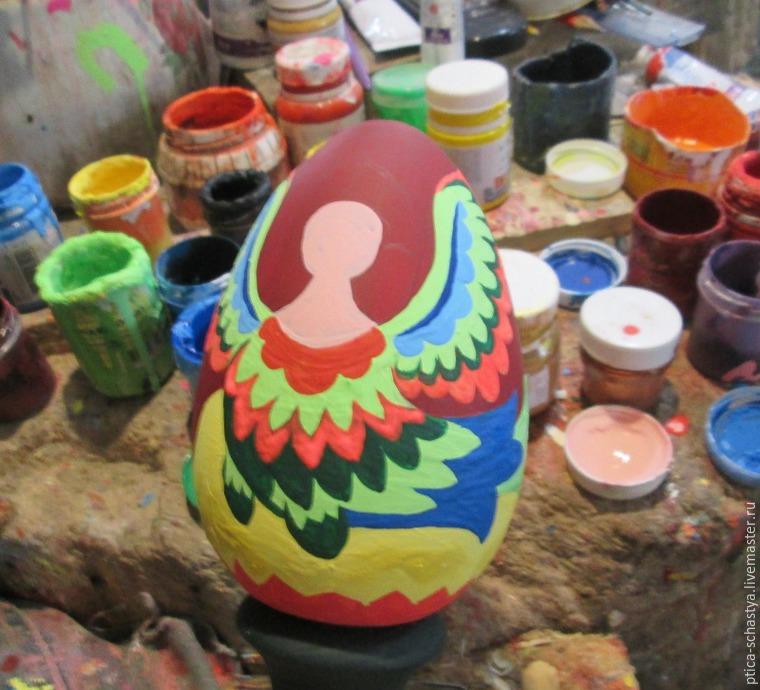 Делаем пасхальное яйцо «Сирин», фото № 12