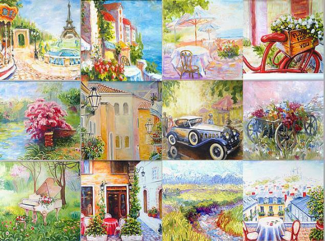 скидка 20%, акция магазина, акция к новому году, картины маслом скидки, символ 2014 года, картины цветов, картины лошадь, городской пейзаж