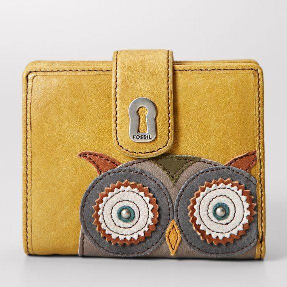 Fossil SL2966 Ladies Multifunction Rubi Carteira Coruja: Amazon.co.uk: Shoes & Bags