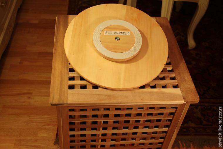 Мастерим поворотный стол для раскладки шерсти на шаблоне, фото № 7