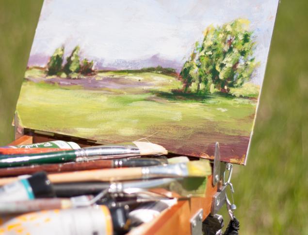 пленэр, plein air, живопись, этюд, картина