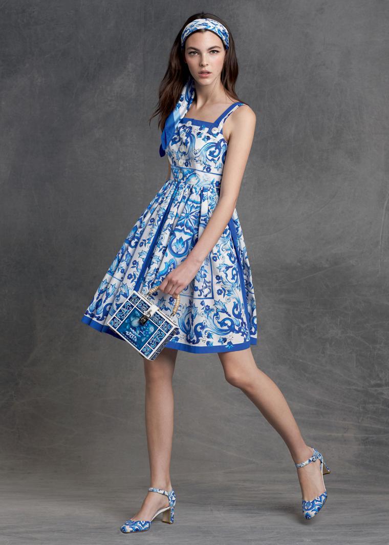 Платья дольче габбана синее