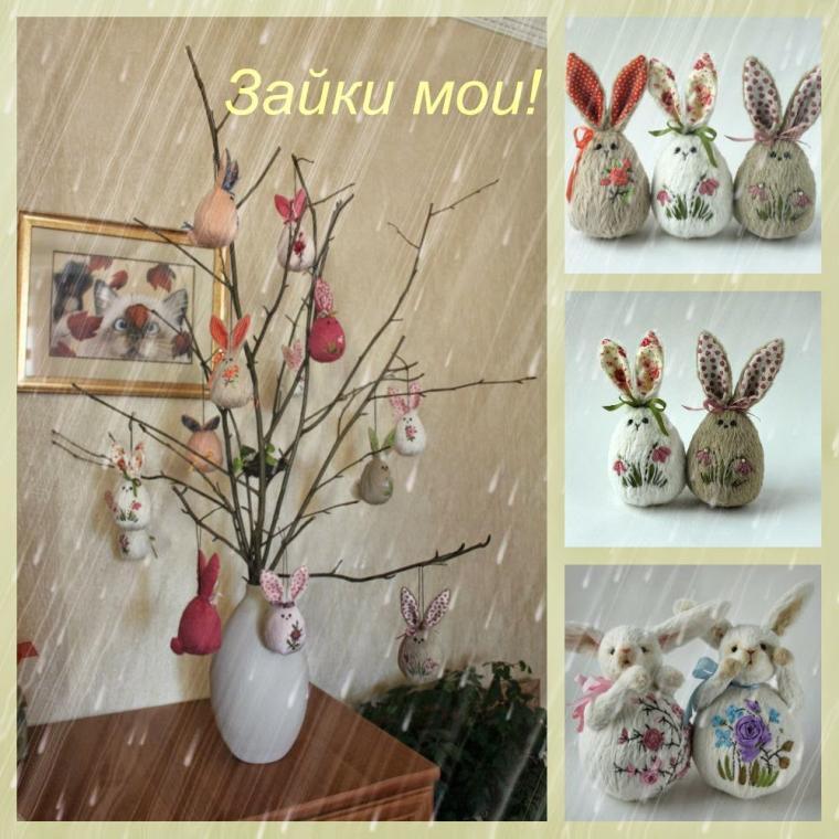 пасхальный сувенир, наталья полех, пасхальный кролик
