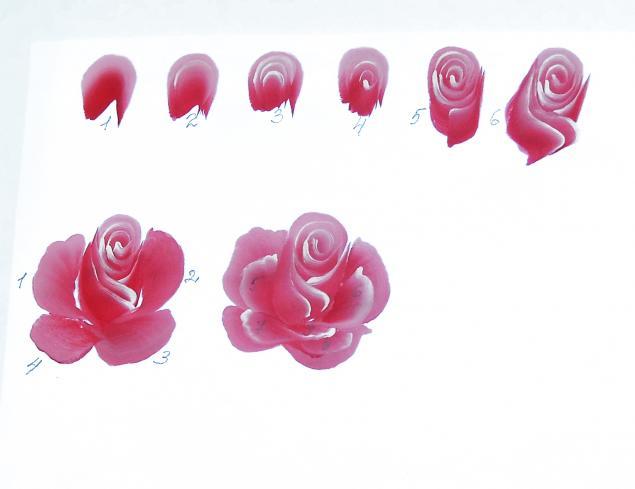 Рисуем кистью розу