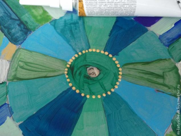Яркие настенные часы (роспись), фото № 11