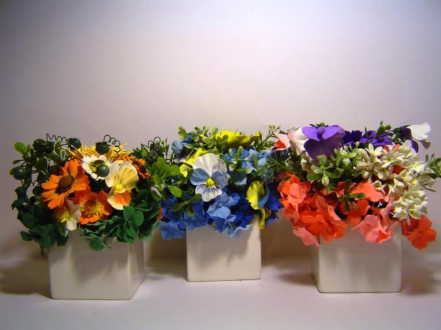 аукцион, цветы из полимерной глины, ручная работа, композиция