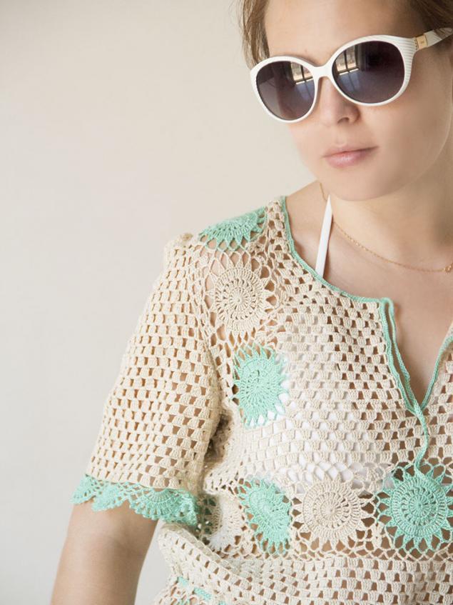 пляжное платье, ажурное платье