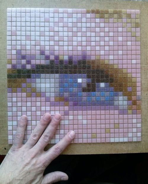 художественная мозаика, сергей брагин, стеклянная мозаика, цой