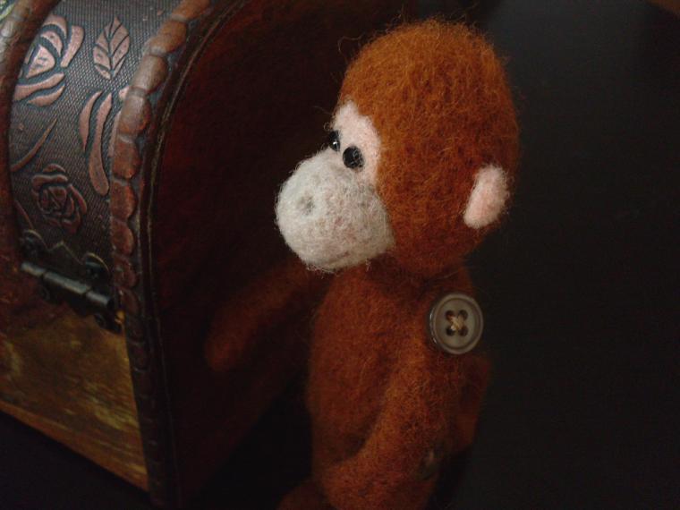 мк по валянию, обезьяна к новому году, иглы для валяния